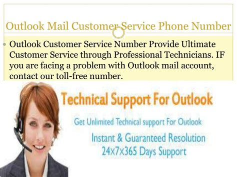 phone number for customer service ppt call outlook mail customer service phone number powerpoint presentation id 7365271