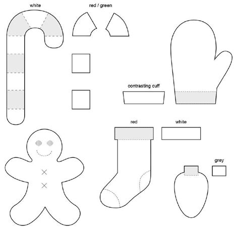 felt christmas stocking decoration templates free felt patterns for ornaments ornament