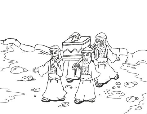israelites crossing the red sea coloring page az