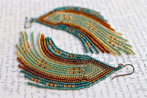 seed bead jewelry fringe earrings seed bead earrings beaded earrings