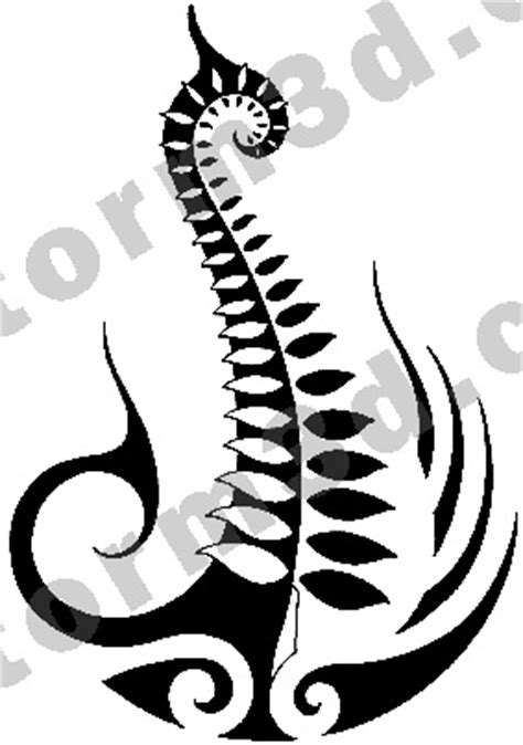 tribal fern tattoo maori fern design by maoritattoo on deviantart