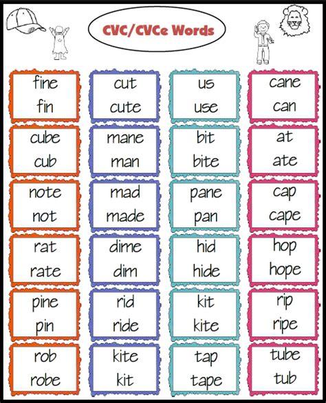 cvc pattern games teacher s take out cvc cvce and cvc c v v c words freebie