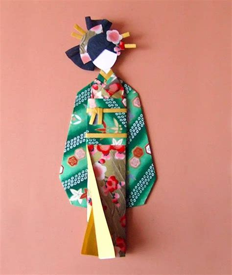 Paper Doll Origami - 130 best paper dolls origami images on paper