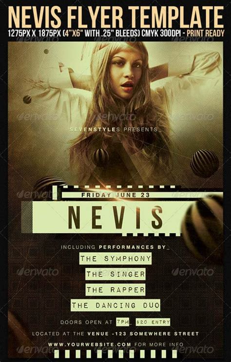 flyer templates graphicriver nevis flyer template