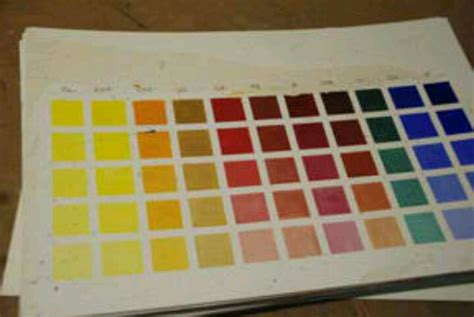 schmid colors in a chart color theory