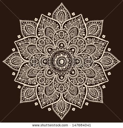 mandala tattoo white indian traditional pattern of black and white flower