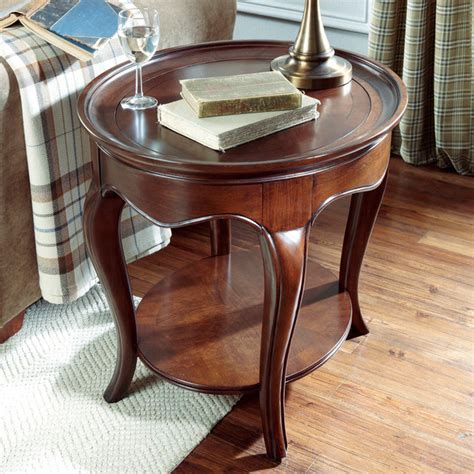 drew cherry grove coffee table drew cherry grove ng oval wood end table in brown