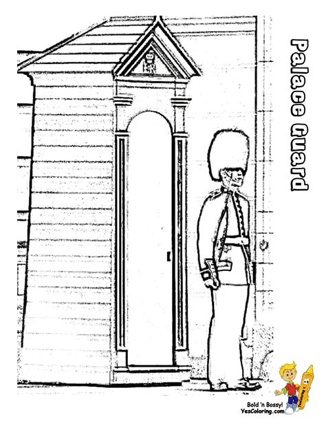 coloring pages book for kidsboys com palace guard free colouring pages