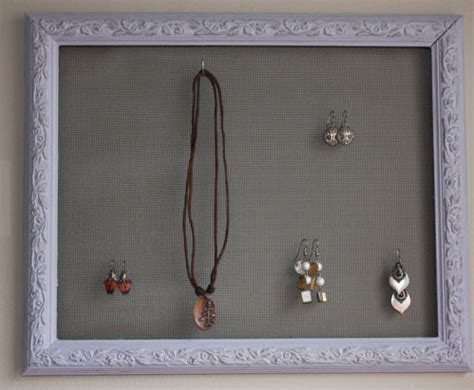 a pretty shabby chic jewelry organizer to hang on your wall it s a glam thing