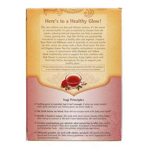 Aem Organic Detox Cosmetics by Yogi Tea Organic Teas Blend Detox Skin 16 Bags