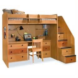 Free Diy Full Size Loft Bed Plans by Berg Furniture Utica Lofts Twin Loft Bed With 5 Drawer Staircase 23 835 Xx