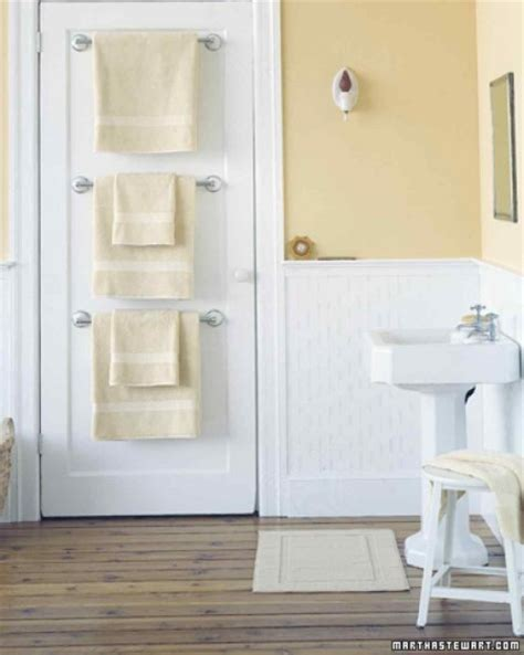bathroom door towel racks 42 bathroom storage hacks that ll help you get ready faster