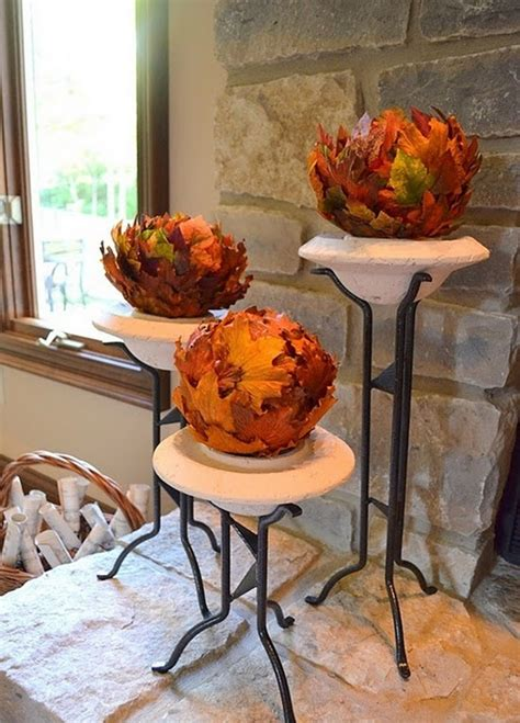 cool ways   autumn leaves  fall home decor