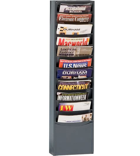 Magazine Wall Racks by Steel Wall Mounted Magazine Rack In Wall Magazine Racks