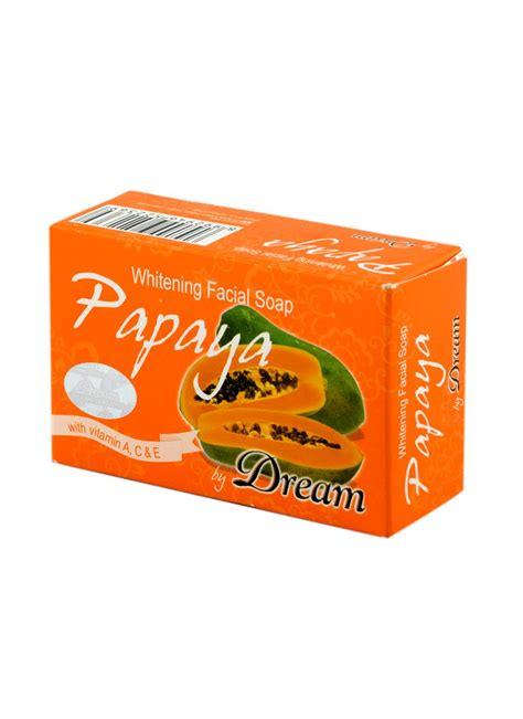 Sabun Papaya Whitening Soap whitening soap papaya bar 100g klikindomaret