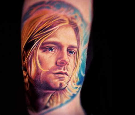 kurt cobain tattoo portrait by nikko hurtado no 165