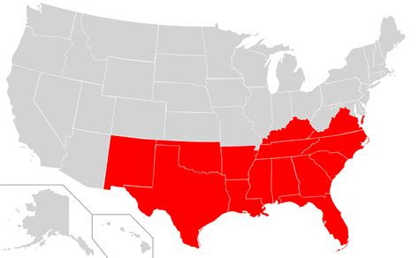 map of the south file map of usa highlighting oca diocese of the south svg wikimedia commons