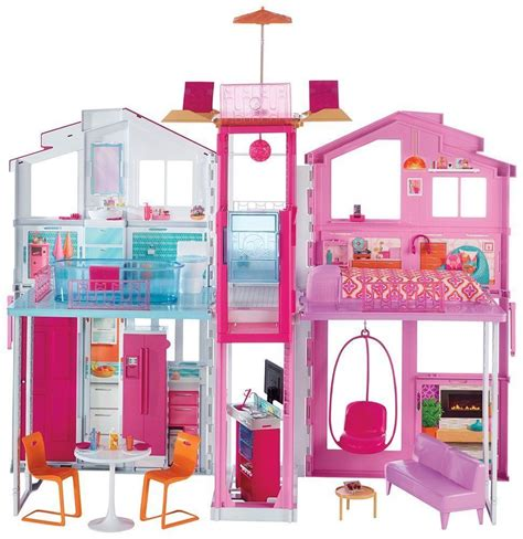 doll house 3 barbie doll 3 storey town house mansion deluxe