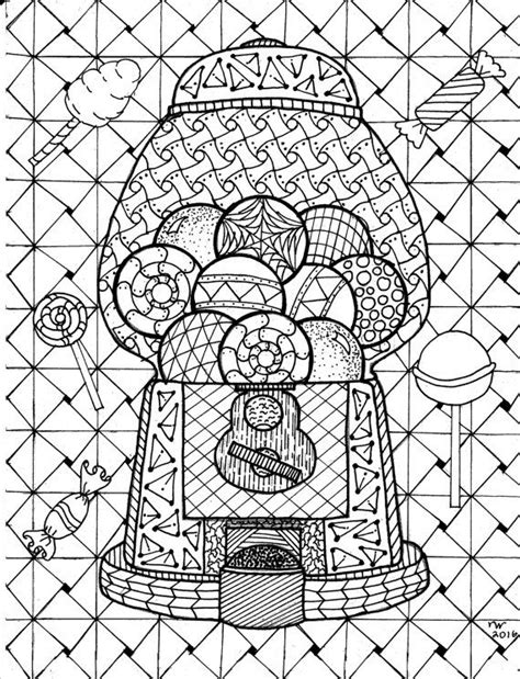 coloring pages zentangle gumball machine zentangle coloring page digital coloring