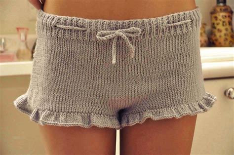 knitted shorts for gorgeous shorties ruffle shorts with drawstring girly