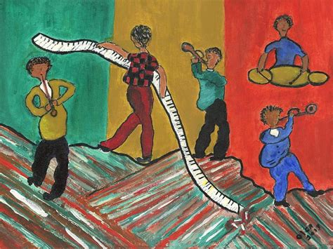Cuttin A Rug by Cutting A Rug Painting By Olga Roos