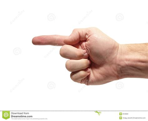 to finger one finger pointing to side stock photos image 872003