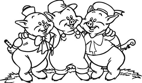 coloring pages of pigs 3 little pigs face coloring page
