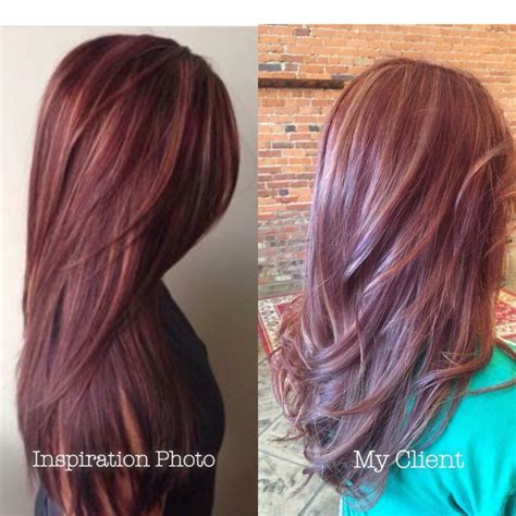 mahogany red hair with high lights red hair highlights maroon mahogany and burgundy