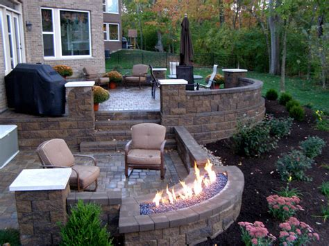 Outdoor Patio Walls outdoor raised patios and landings landscape other