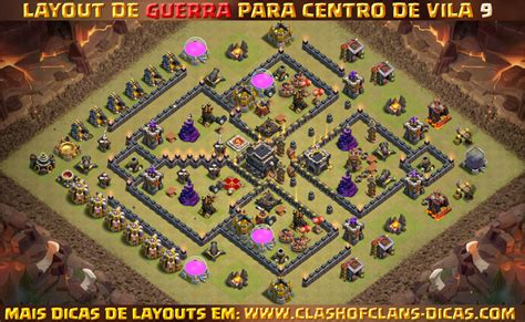 layout war cv 9 layouts para cv9 em guerra clash of clans dicas