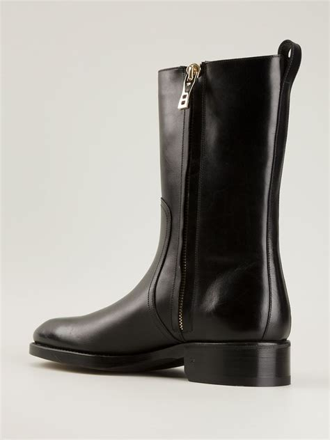 tom ford boots tom ford side zip boots in black for lyst