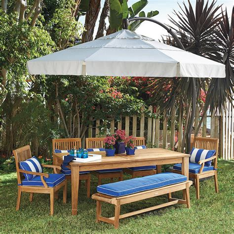 11 Round Side Mount Patio Umbrella Traditional Frontgate Patio Umbrellas