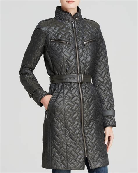 quilted coat lyst cole haan coat signature quilted belted faux