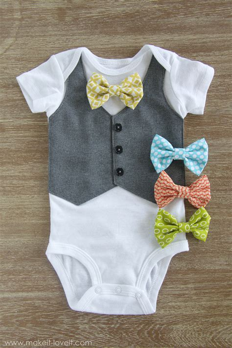 diy st s day bow tie onesie for faux vest onesie with interchangeable bowties make it and it