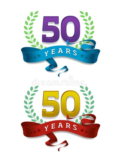 fifty years of illustration 1780672799 50 years golden jubilee stock illustration illustration of concept 55503525