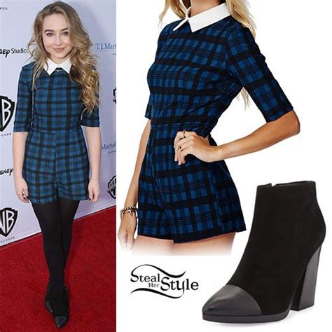 Collar Sabrina Dress sabrina carpenter plaid collared romper styles rompers style and