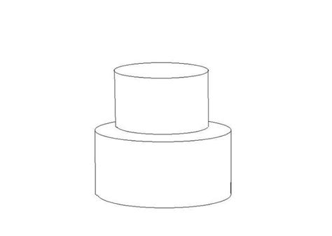2 tier cake template random pins pinterest