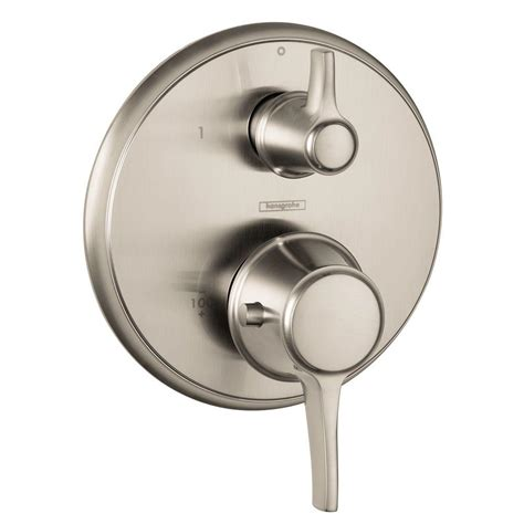 One Handle Kitchen Faucets Hansgrohe Metris C 2 Handle Thermostatic Valve Trim Kit