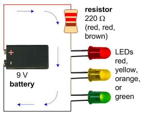resistor calculator for led in series circuits page 2 eric j forman teaching
