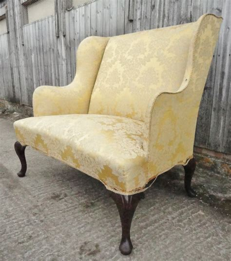 wing back settee small circa 1900 wing back sofa settee 287536