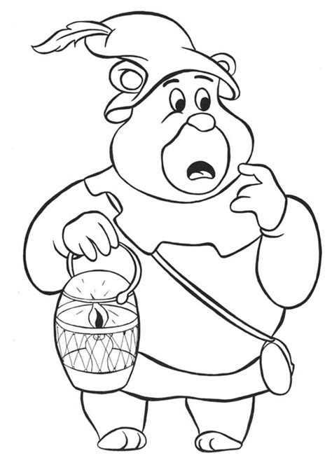 gummy bear drawing black and white to color child coloring