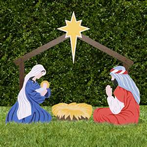 holy family classic yard nativity set outdoor nativity