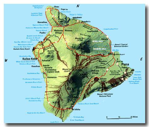 hawaii big island map big island beaches map my