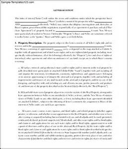 Free Model Letter Of Intent For The Purchase And Sale