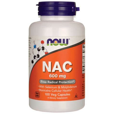 supplement nac now foods nac 600 mg 100 veg caps swanson health products