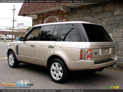 white and gold range rover 2003 land rover range rover hse white gold metallic sand