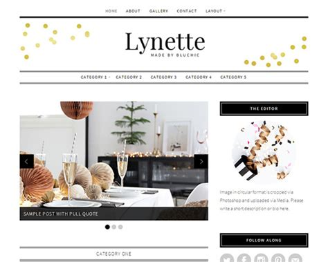 Home Decor Blogs Wordpress | lynette boutique home decor wordpress blog theme