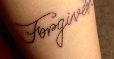 forgiven wrist tattoo christian christian repinly tattoos