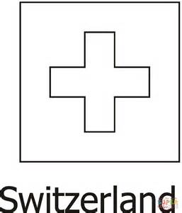 switzerland flag coloring page supercoloring com