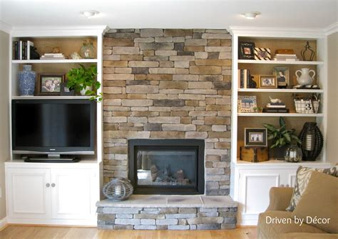 bookcases next to fireplace building a stone veneer fireplace tips for design
